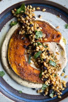 Vegan Starters, Farro Salad, Thing 1, Serving Plates, Tray Bakes, Vegan Vegetarian, Hummus, Roast, Vegan Recipes