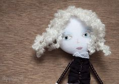 Art Doll Brooch Girl and her Doll mixed media by miopupazzo, $27.00