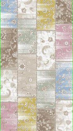 Patika Goya 9632A mürdüm  pembe patchwork halı