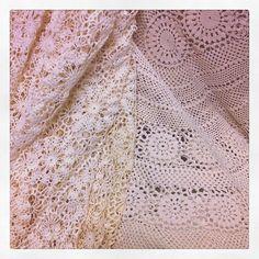 Vintage crochet tablecloths