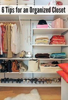 Great tips to organize your master closet! // cleanandscentsible.com