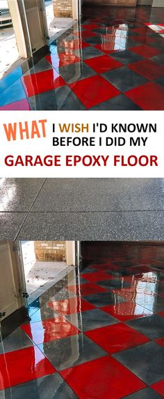 Tips and tricks when using epoxy on your garage floor.
