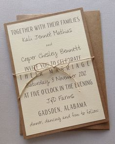 Rustic Modern Wedding Invitations by LemonInvitations on Etsy, $2.00