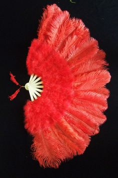 Pretty Red Marabou & Ostrich Feathers