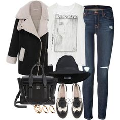 """""""inspired outfit for a day at college"""" by whathayleywore on Polyvore"""