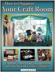 How to Organize Your Craft Room: 15 Room Tours and DIY Organization Ideas from Your Favorite Bloggers.
