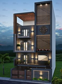 Modern Exterior House Designs, Latest House Designs, Cool House Designs, Modern House Design, Exterior Design, House Outer Design, House Front Design, Small House Design, Architecture Building Design