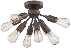 """Hemingson 20 3/4""""W 8-Light Oil-Rubbed Bronze Ceiling Light"""