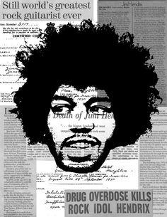 Jimi Hendrix 16X20 art print