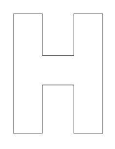 alphabet letter h template for jpg 1 700 215 2 200 pixels Letter H Activities For Preschool, Preschool Education, Preschool Curriculum, Alphabet Activities, Homeschool, Preschool Worksheets, Alphabet Letter Crafts, Alphabet Book, Learning The Alphabet