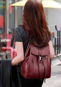 High-Quality #Leather #Backpack Woman New Arrival #Fashion Female Backpack Large Capacity School #Bag Mochila Feminina String Bag. FREE SHIPPING,but only for a limited time. Limited quantity – Will sell out fast! #Tag those friends who would love this!