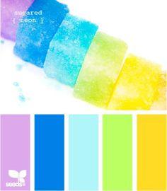 Sorgt für gute Laune - Farbkombis aus Viola (Farbpassnummer 18), Lapisblau (Farbpassnummer 21) Aquamarin (Farbpassnummer 19) Chartreuse (Farbpassnummer 25) und Goldgelb (Farbpassnummer 31) Farbpalette des Frühling - Farbtyps! Kerstin Tomancok Farb-, Typ-, Stil & Imageberatung