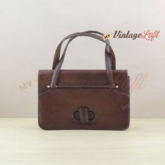Vintage brown leather mini bag