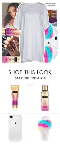 """""""Untitled #449"""" by kklbarnes ❤ liked on Polyvore featuring Victoria's Secret, Charlotte Russe and Off-White"""