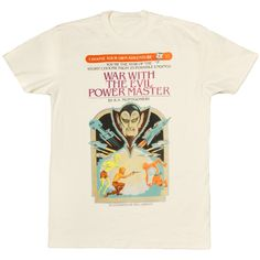 Choose Your Own Adventure #37, War with the Evil Power Master t-shirt