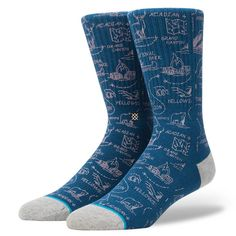 Stance - Lonesome socks, featuring a camping themed print | Designer: Joshua Ariza #nattyguy