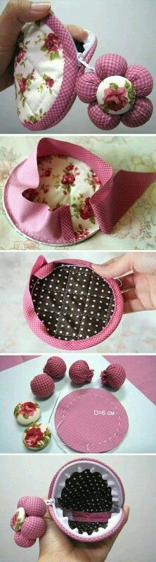 ~ How to sew free tutorial for beginners. Ideas for sewing projects. Step by step illustration. ~ How to sew free tutorial for beginners. Ideas for sewing projects. Step by step illustration. Sewing Hacks, Sewing Tutorials, Sewing Patterns, Sewing Tips, Fabric Crafts, Sewing Crafts, Diy Crafts, Fabric Bags, Quilted Bag