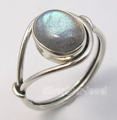 925 Sterling Silver LABRADORITE Stone New Ring Any Size