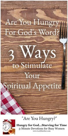 """Reading the Bible feeds us, yet many Christians regularly skip """"meals."""" If your appetite isn't what it used to be, here are 3 ways to stimulate it again. Christian Living, Christian Life, Christian Women, Christian Quotes, Jesus Prayer, Jesus Christ, Bible Love, Joy Of The Lord, Christen"""