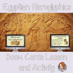 Egyptian Hieroglyphics Complete Lesson and Revision Questions  This lesson teaches children about Egyptian Hieroglyphics. There is a complete lesson split into sections with revision questions and exercises after each section to check children's understanding. Google Classroom, Teaching Kids, Social Studies, Egyptian, Classroom Resources, Activities, This Or That Questions, Learning, Digital