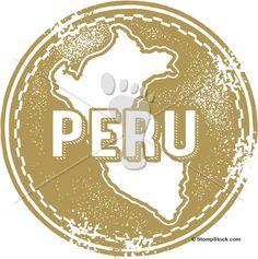 Vintage Peru South America Stamp – Seal