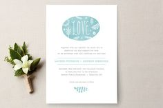 Sweet Love Wedding Invitations by Olivia Raufman at minted.com
