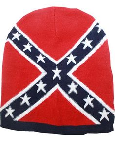 cdbcb0b553a Navy Blue Confederate Flag Thick Knit Cold Weather Beanie Hat