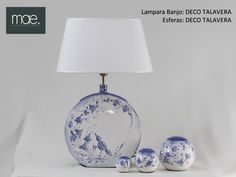 Lámpara Banjo y esferas DECO Talavera, decorado a mano
