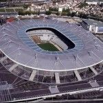 This building paper model is the Stade de France, the national stadium of France, situated just north of Paris in the commune of Saint-Denis, the papercraf France Euro, France 2, Paris France, Soccer Stadium, Football Stadiums, Football Soccer, Soccer Cup, Psg, Stadium Architecture