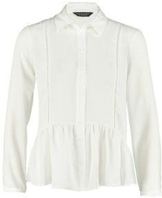 Pin for Later: In diesem Frühjahr wird die weiße Bluse vom Büro-Klassiker zum echten Hingucker  Dorothy Perkins Hemdbluse mit Peplum-Schößchen (35 €)