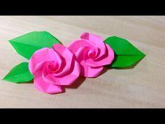 折り紙 簡単なバラの折り方 - YouTube