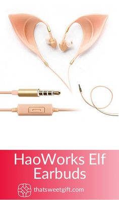 Appreciate the music lover in your life with this amazingly geeky and cool HaoWorks Elf Earbuds! It's a perfect gift for the weirdos we love out there! Right Where It Belongs, Harry Potter Gifts, Gamer Gifts, Audiophile, Music Lovers, The Hobbit, Elf, Unique Gifts, Geek Stuff