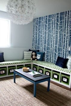 Benched in Blue and Green | Community Post: 21 Awesomely Creative Reading Spaces For The Classroom