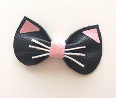 Leather Kitty Bow от KerleyGirls на Etsy