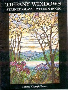 Dover Stained Glass Instruction: Tiffany Windows Stained Glass Pattern Book by Connie Clough Eaton Paperback) Tiffany Stained Glass, Tiffany Glass, Stained Glass Art, Stained Glass Windows, Stained Glass Supplies, Stained Glass Patterns, Glass Book, Pattern Books, Sculptures