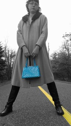 Blue Polka dot purse   duct tape wallet  duck by theducktapediva, $40.00