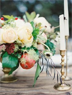 lush organic florals Wedding tablescape looks photographed by @Erich Mcvey featured on @wedding chicks