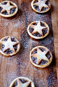 Marzipan Mince Pies - a variation on the classic mince pies, with each pastry shell adorned with a 5-point marzipan star.