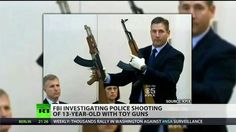 FBI investigates fatal police shooting of 13-year-old, lies to cover for violence , the diff between guns is obvious , I'm blind and am able to see one barrel is black/.blueijng, the other is silver or chrome at any distance to shoot a human being one can see this .