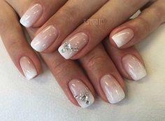 Elegant Ombre Wedding Nail Design