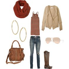 """The perfect """"out & about"""" outfit for fall/winter in So Cal."""