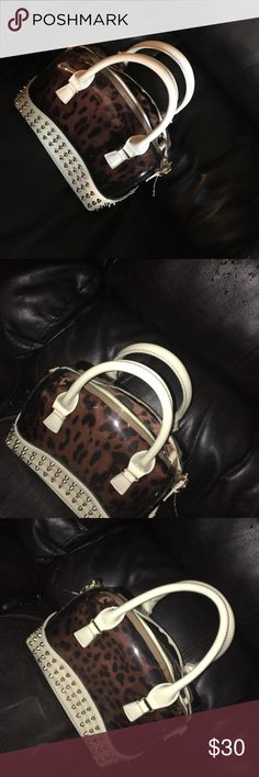 Clear Cheetah Print bag Clear cheetah print bag Bags Satchels