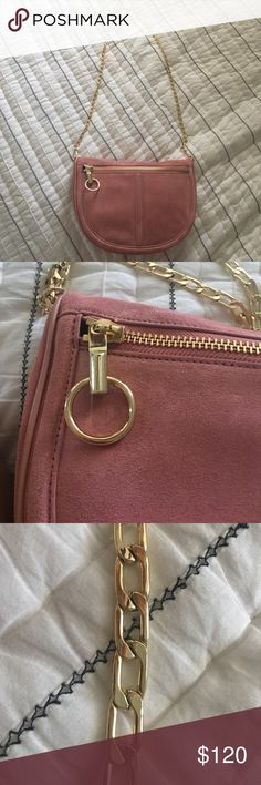 Elizabeth & James Pink Suede Crossbaody Super soft and Super cute Never been used 100%AUTHENTIC bought from Nordstrom Elizabeth and James Bags Crossbody Bags