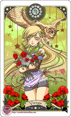 Astrology deck card: Virgo by Bory-Einfrost on deviantART