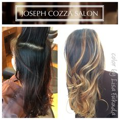 Blonde Soft Ombré on Asian Brunette colored Hair Balayage Highlights by Lisa Fukuda&CocoAlexander Haircut&Style by CocoAleaxander  @JosephCozzaSalon 77 Maiden Lane Sf Ca 1415 4333030 followme @haircolorbylisa
