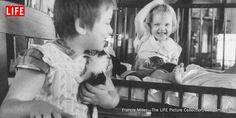 Photos from 1956 illustrate the powerful, positive effect that being around animals can have on sick children.