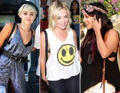"""Modelos - Renda Sutiãs com um pouquinho da renda aparecendo (vale acompanhar o decote da blusa, ou """"escapar"""" na lateral) dão um ar sexy á produção. Por isso, combine com peças descontraídas, como regatas soltinhas usadas com jeans.   Quem usou: Miley Cyrus, Ashley Benson e Vanessa Hudgens"""