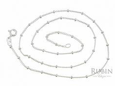 Ródiumos ezüst gömbös pancer nyaklánc