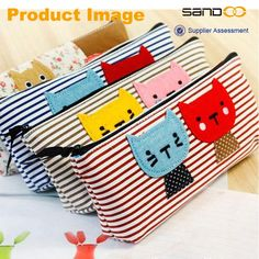 New cute fabric cats pair pen bag, custom cool pencil bag, View pencil bag, Sandoo pencil bag Product Details from Quanzhou Sandoo Bags Co., Ltd. on Alibaba.com
