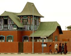 Woerman haus,  Swakopmund, Namibia Building Structure, Green Building, West Africa, South Africa, Art Nouveau, Invisible Cities, Namib Desert, City Scapes, Places Of Interest